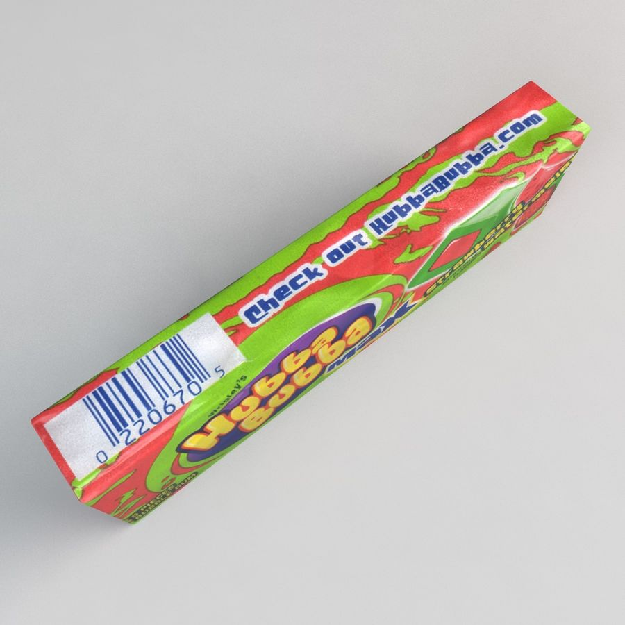 Chewing Gum royalty-free 3d model - Preview no. 3