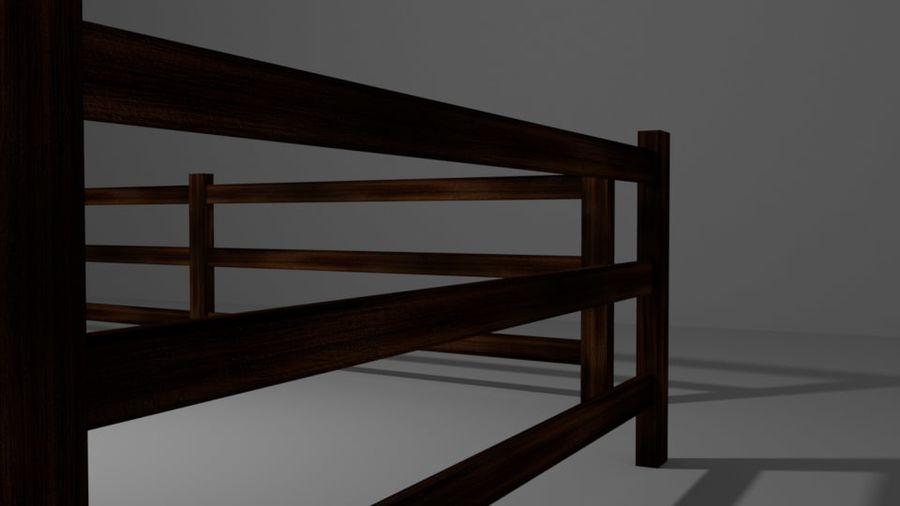 Drewniany płot royalty-free 3d model - Preview no. 5