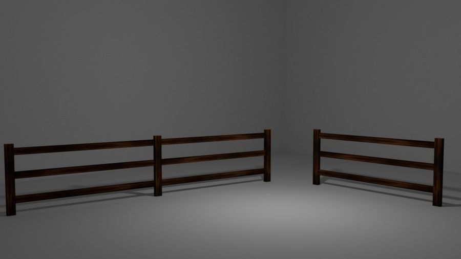 Drewniany płot royalty-free 3d model - Preview no. 1