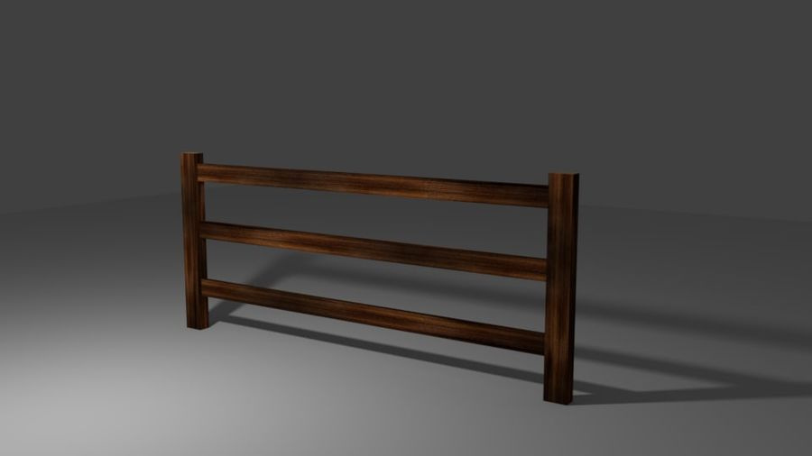 Drewniany płot royalty-free 3d model - Preview no. 3