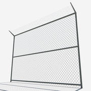 low poly Fence 3d model