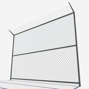 lågt poly staket 3d model