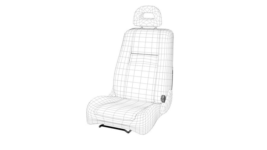car seat royalty-free 3d model - Preview no. 3