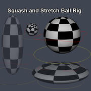 Rigged Ball 3d model