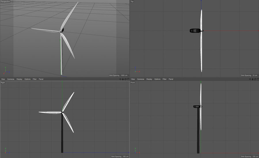 Windmill royalty-free 3d model - Preview no. 6