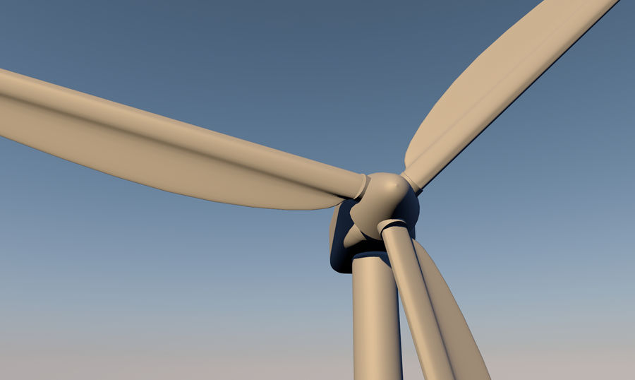 Windmill royalty-free 3d model - Preview no. 2