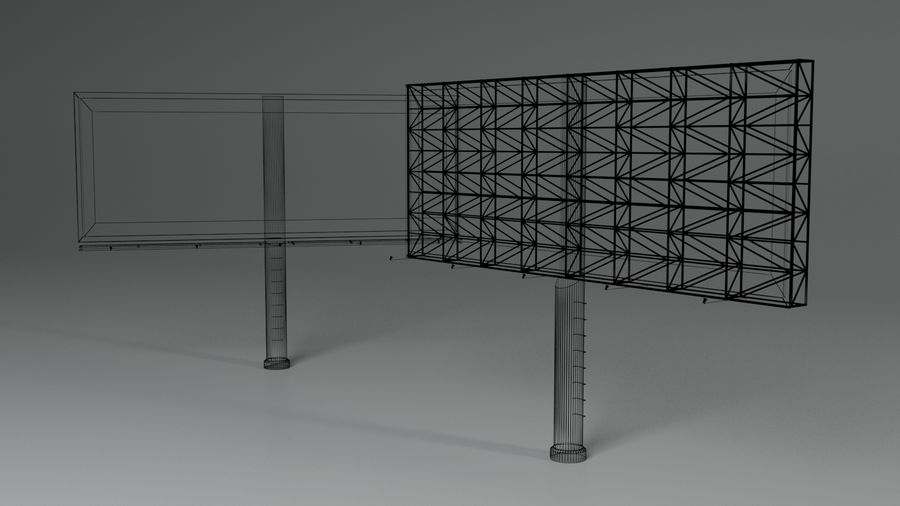 Billboard royalty-free 3d model - Preview no. 10