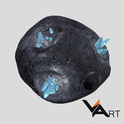 Asteroid low-poly 3d model