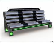 Panchina futuristica 3d model