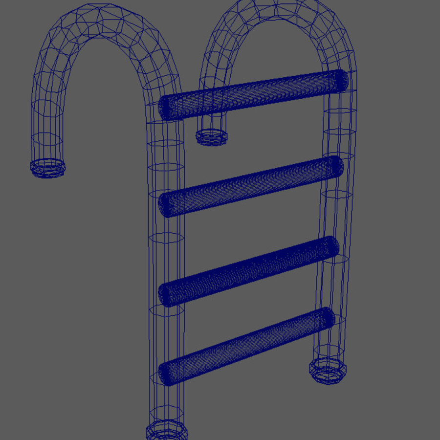 Swimming Pool Ladder royalty-free 3d model - Preview no. 6