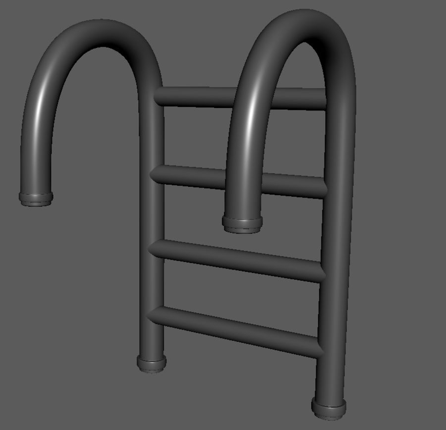 Swimming Pool Ladder royalty-free 3d model - Preview no. 4