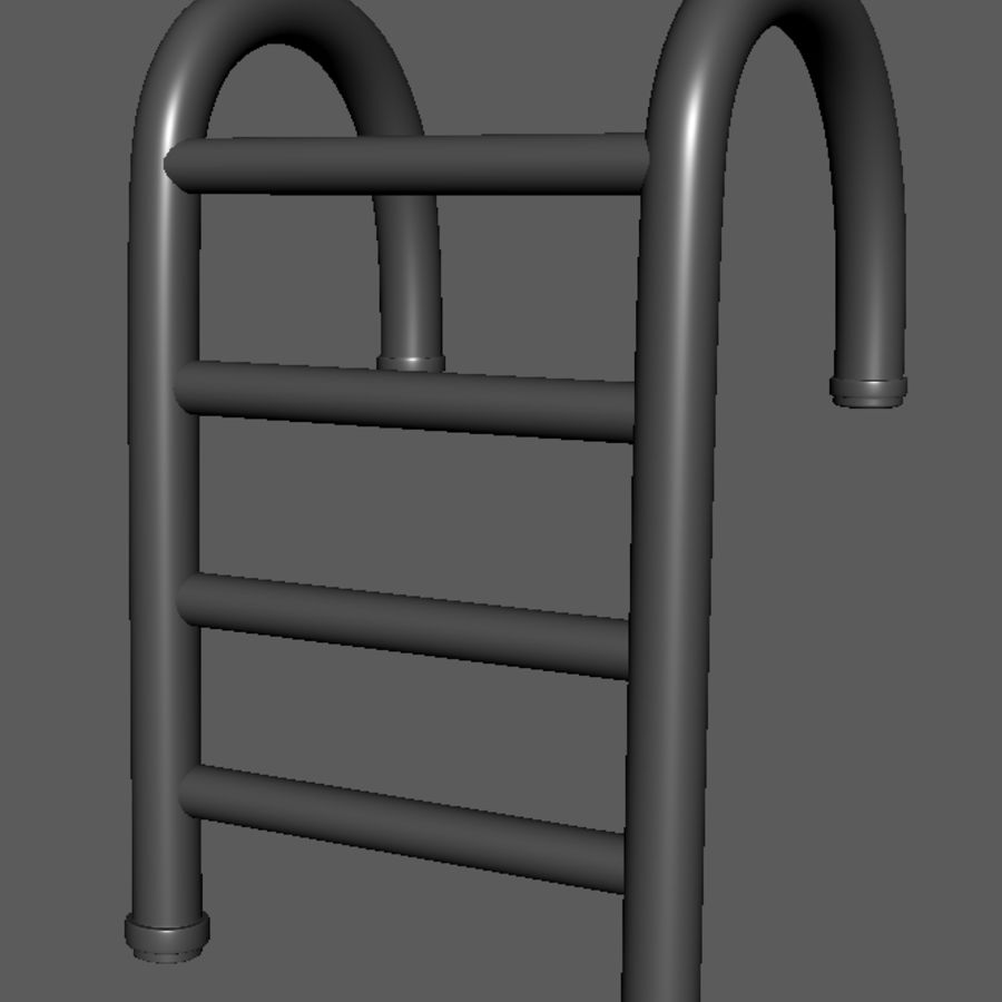Swimming Pool Ladder royalty-free 3d model - Preview no. 2