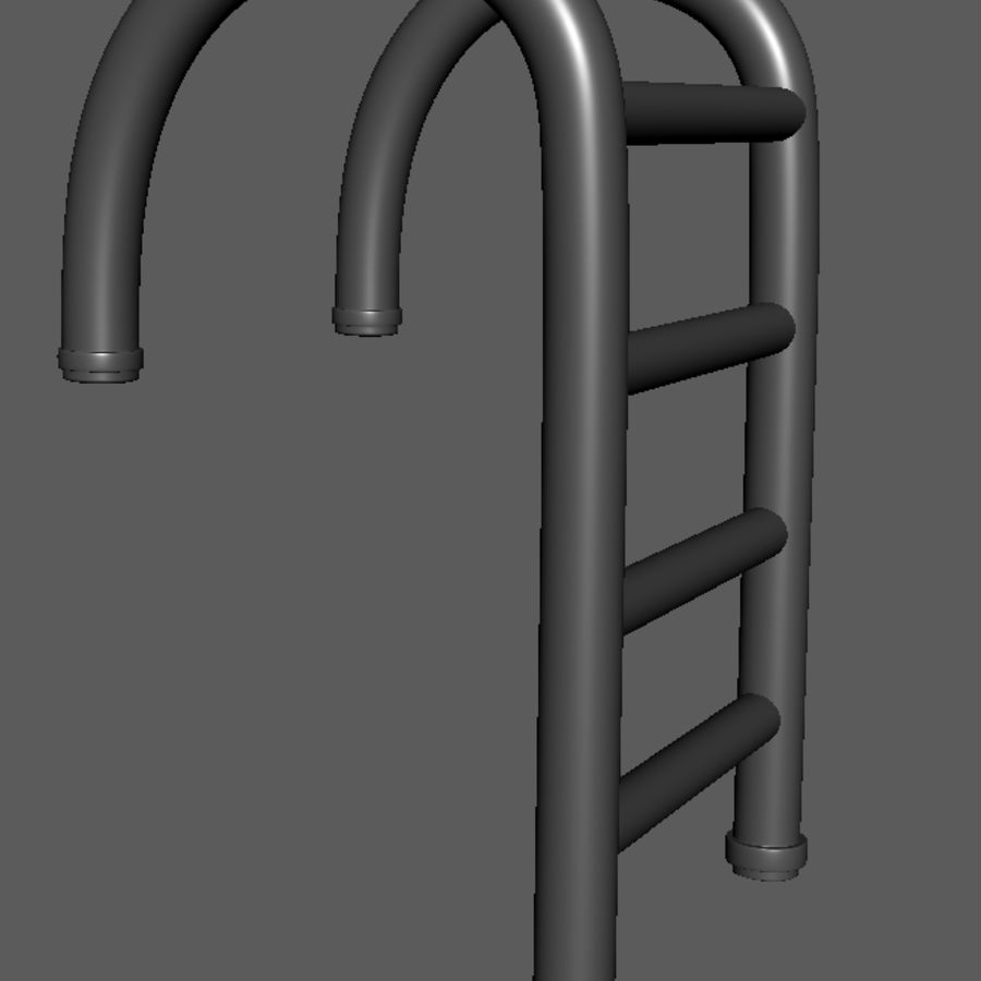Swimming Pool Ladder royalty-free 3d model - Preview no. 3