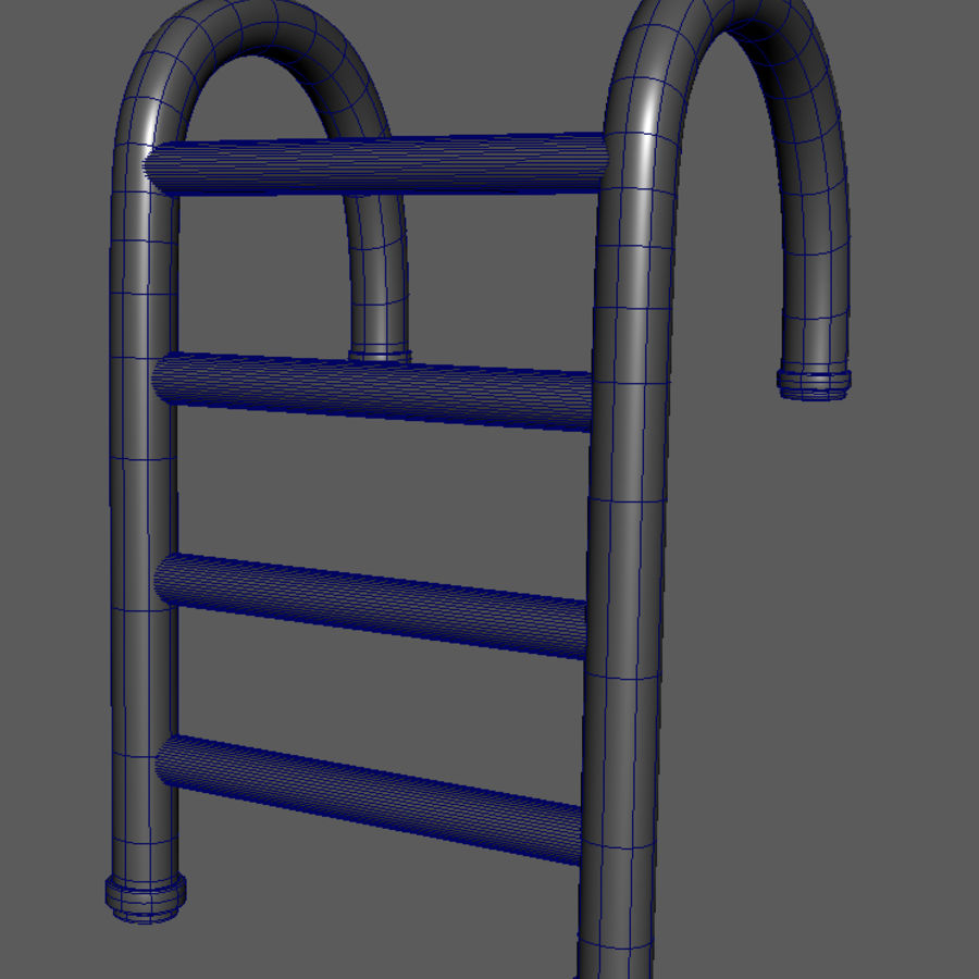 Swimming Pool Ladder royalty-free 3d model - Preview no. 5