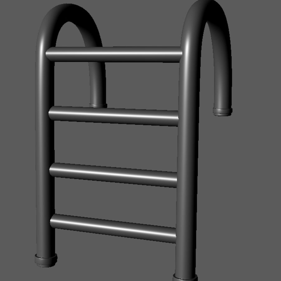Swimming Pool Ladder royalty-free 3d model - Preview no. 7