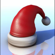 Santa Claus Hat Cartoon 3d model