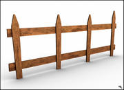 栅栏 3d model