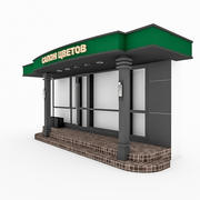 Boutique Shop Facade 3d model