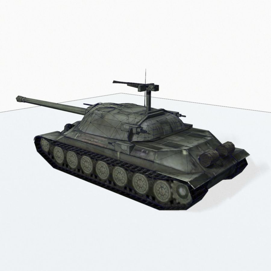IS-7 royalty-free 3d model - Preview no. 11