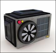 Aire acondicionado, caricatura modelo 3d