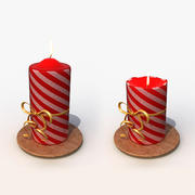 Christmas candle 3d model