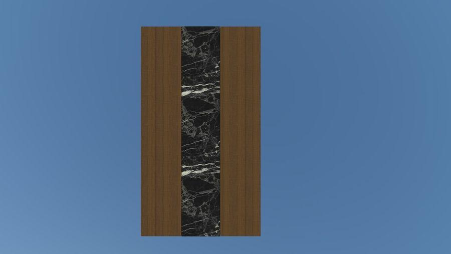Salontafel - hout met marmeren detail royalty-free 3d model - Preview no. 3