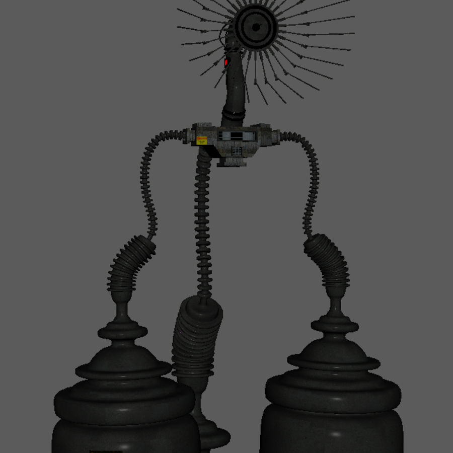 Futuristic Antenna royalty-free 3d model - Preview no. 3