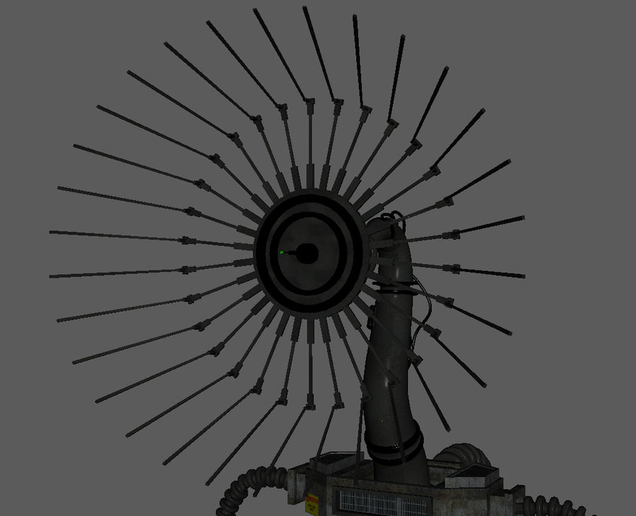 Futuristic Antenna royalty-free 3d model - Preview no. 7
