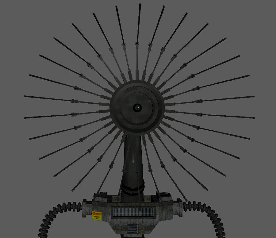 Futuristic Antenna royalty-free 3d model - Preview no. 2