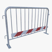 Crowd Control Barrier uno pieno 3d model