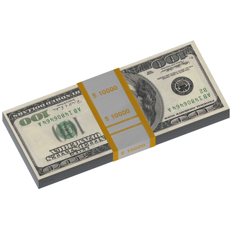 Dollar-Stapel royalty-free 3d model - Preview no. 4