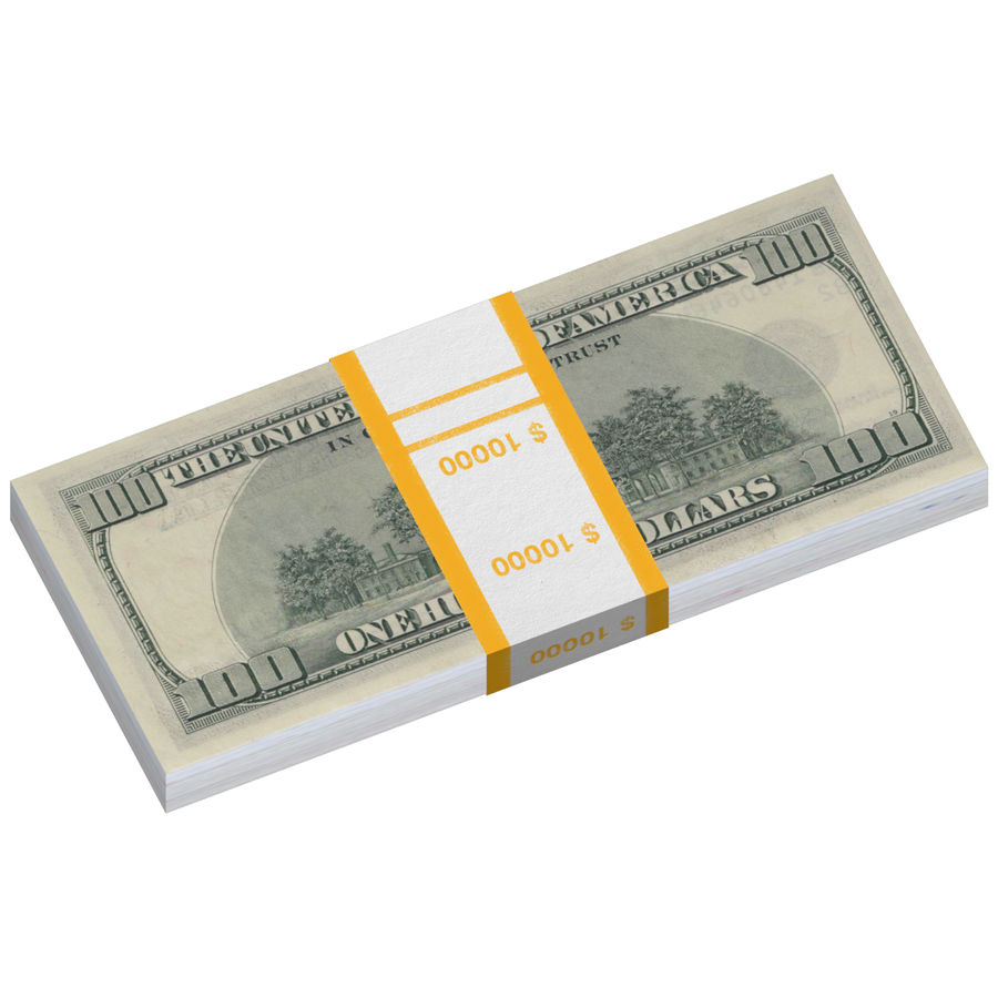Dollar-Stapel royalty-free 3d model - Preview no. 3