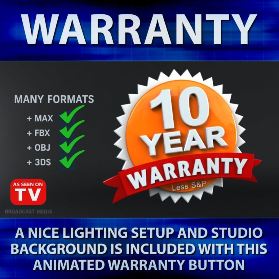 Warranty Badge royalty-free 3d model - Preview no. 2