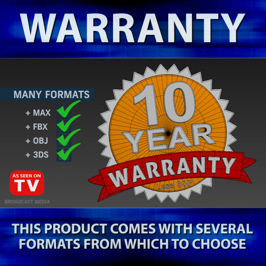 Warranty Badge royalty-free 3d model - Preview no. 3