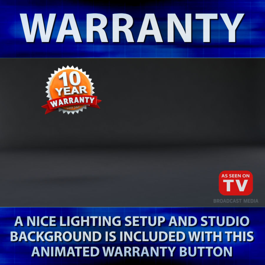 Warranty Badge royalty-free 3d model - Preview no. 5