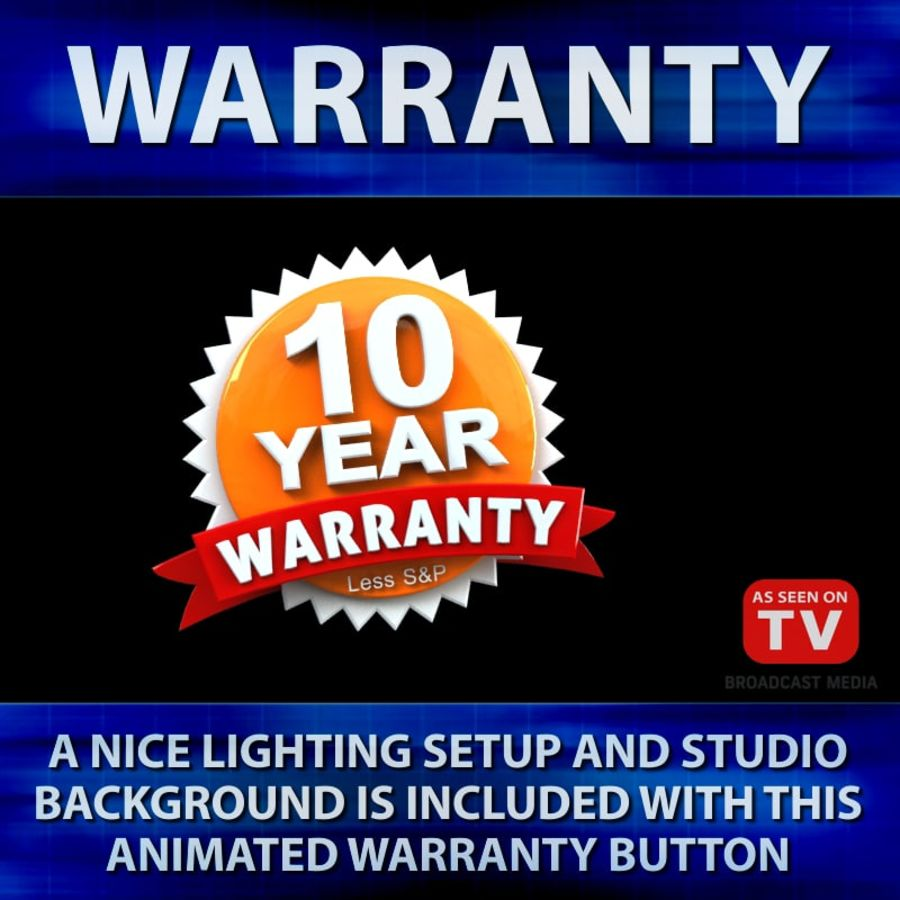 Warranty Badge royalty-free 3d model - Preview no. 8
