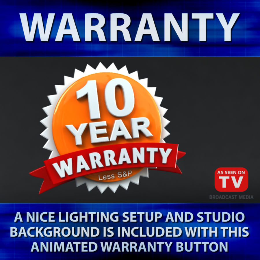 Warranty Badge royalty-free 3d model - Preview no. 7