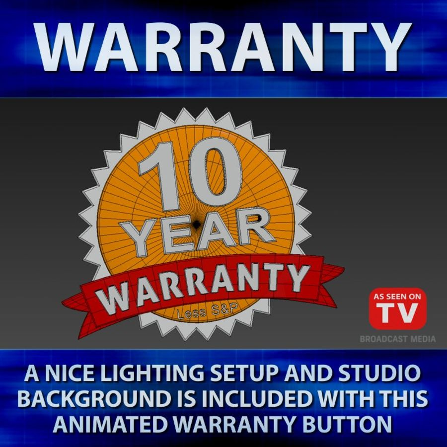 Warranty Badge royalty-free 3d model - Preview no. 6