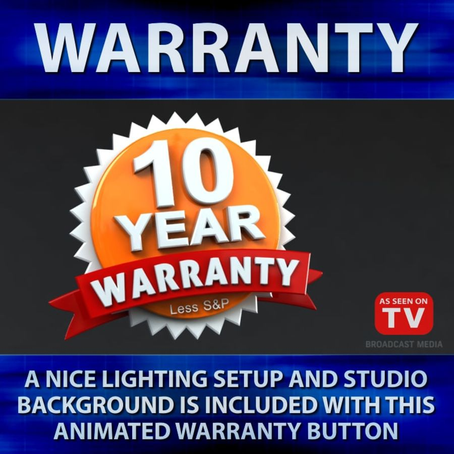Warranty Badge royalty-free 3d model - Preview no. 1