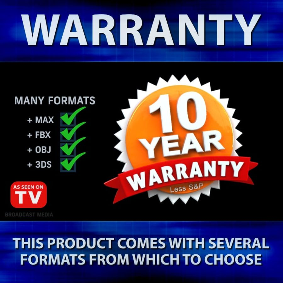 Warranty Badge royalty-free 3d model - Preview no. 4