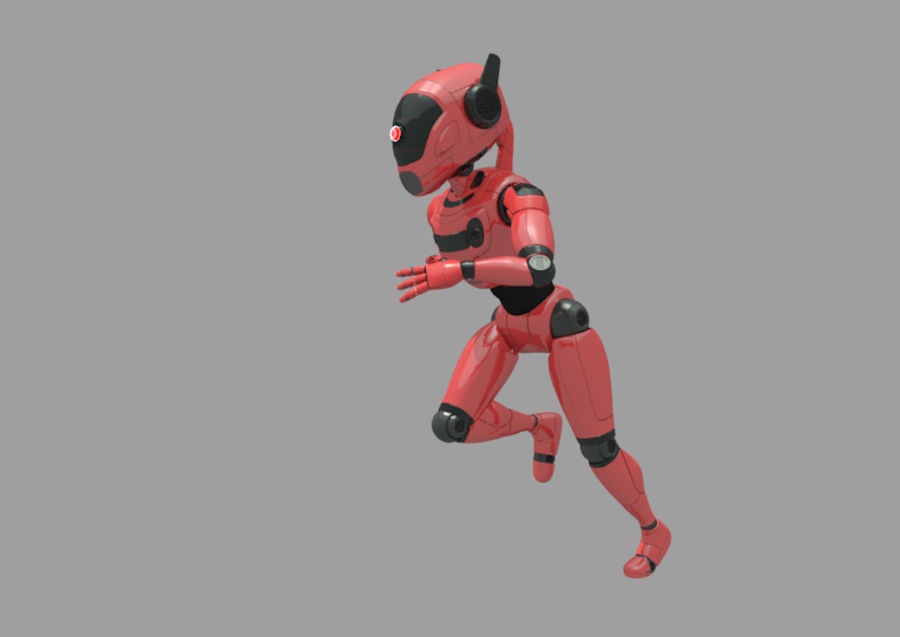Robot / Android / Concept royalty-free 3d model - Preview no. 3