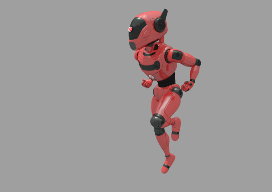Robot / Android / Concept royalty-free 3d model - Preview no. 1