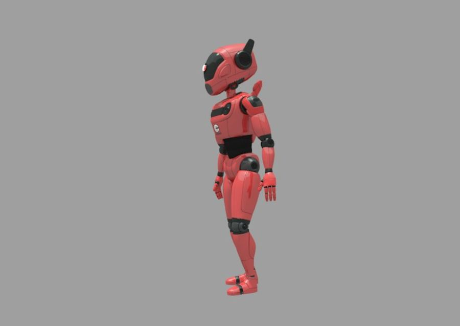 Robot / Android / Concept royalty-free 3d model - Preview no. 2