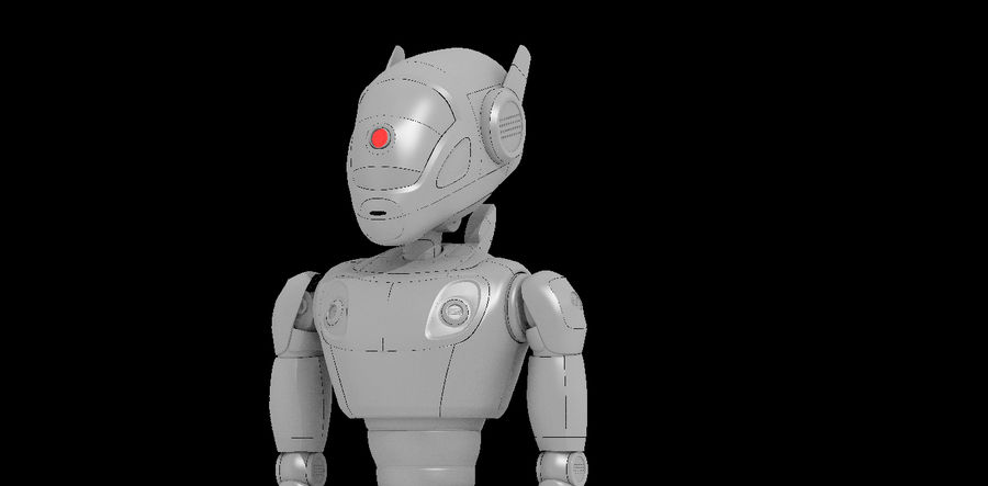Robot / Android / Concept royalty-free 3d model - Preview no. 5