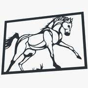 Metal Wall Art Horse 3d model