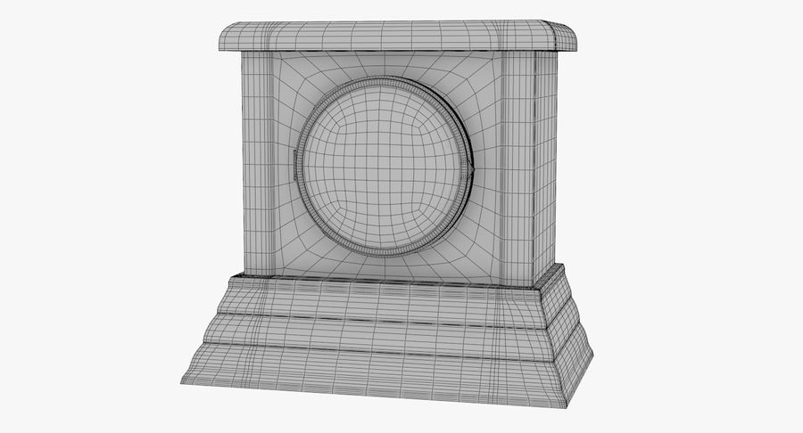 Mantel Clock royalty-free 3d model - Preview no. 7