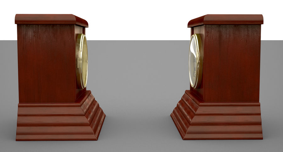 Mantel Clock royalty-free 3d model - Preview no. 3