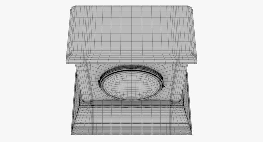 Mantel Clock royalty-free 3d model - Preview no. 9