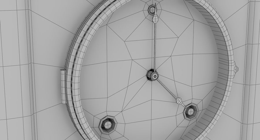 Mantel Clock royalty-free 3d model - Preview no. 12