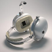 Helicopter headset 3d model